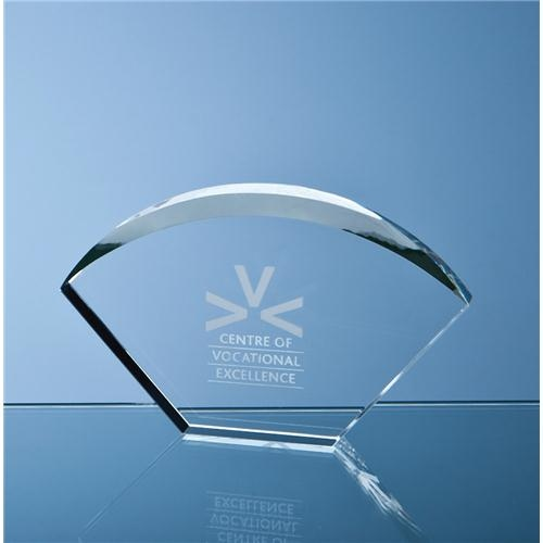 17.5 Optical Crystal Bevelled Arch Award