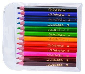 Colourworld Half Pencils Wallet 12