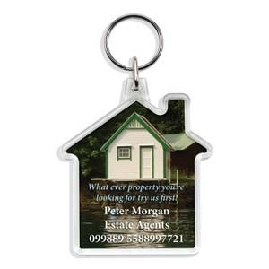 House Clear Acrylic Keyfob