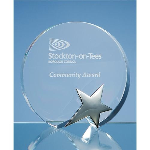 15cm Optic Circle Award with Silver Star