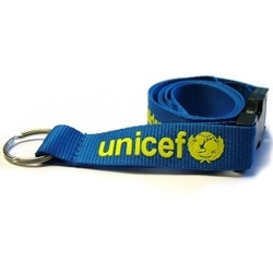 Flat Polyester Lanyard with Foam Print