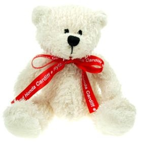 20 cm Snowy Beanie Bear with Bow