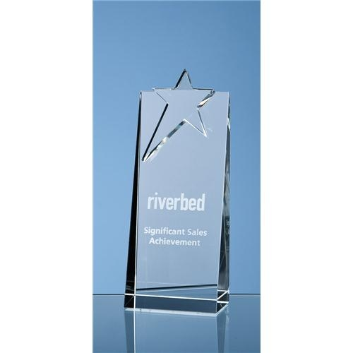 18cm Optical Crystal Star Rectangle Award