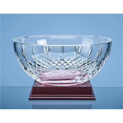 21cm Mayfair Lead Crystal Panel Fruit Bowl