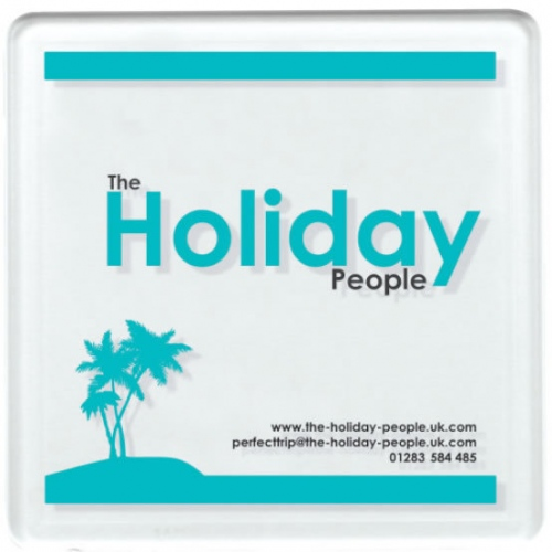 Clear Square Coaster