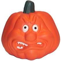 Angry Face Pumpkin Stress Toy