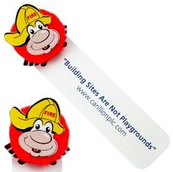 Fireman Logo Bug Bookmark