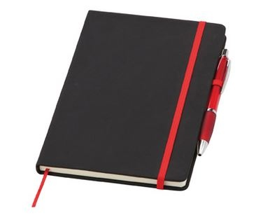 Small Soft Feel Curvy Noir Notebook