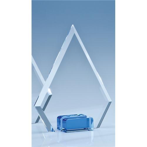 16cm Optical Crystal Diamond With Sapphire Blue Base