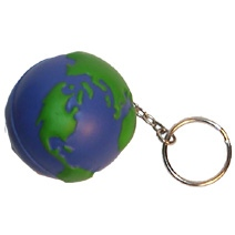 Globe (50mm) Keyring Stress Toy
