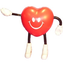 Heart Man Shaped Stress Toy
