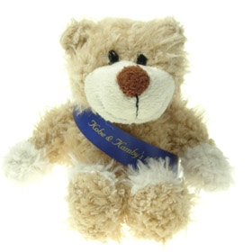 16 cm Wally Jointed Bear with Sash