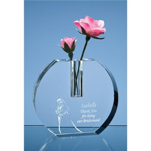 12cm Optical Crystal Bud Vase