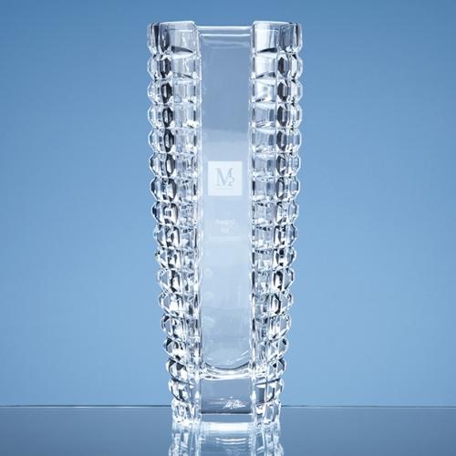 26cm Mario Cioni Lead Crystal Luxe Vase