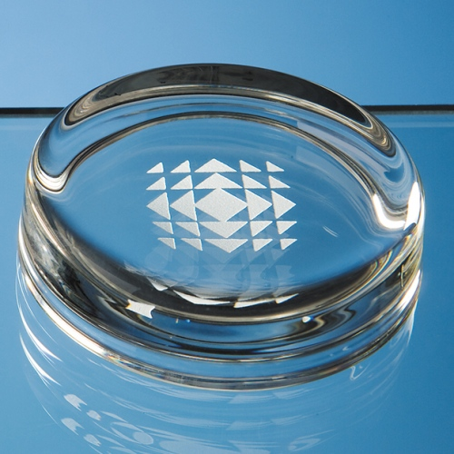 70 mm Small Round Glass Paperweight