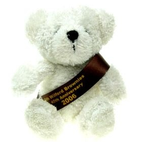 15 cm Jimbo Beanie Bear with Sash