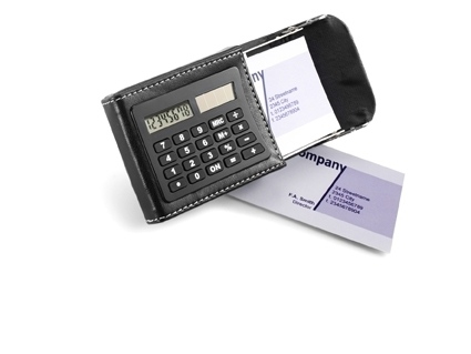 Calculator And PU Holder