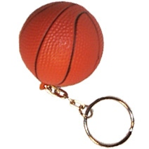 Basketball Stress Toy Keyring