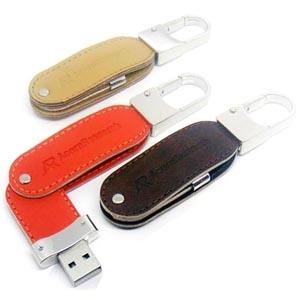 Leather Twist USB Flash Drive
