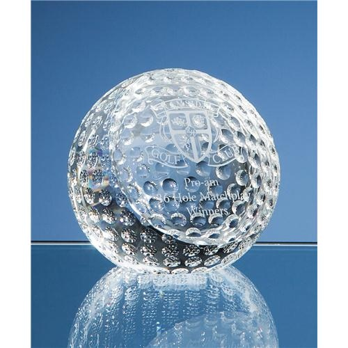 8cm Optical Crystal Golf Ball Paperweight