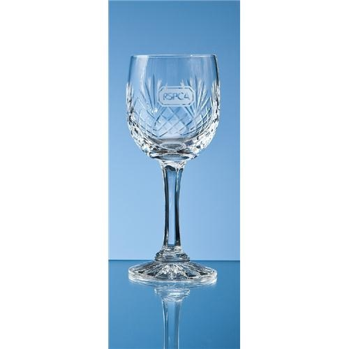 Durham Lead Crystal Panel Red Wine Glass
