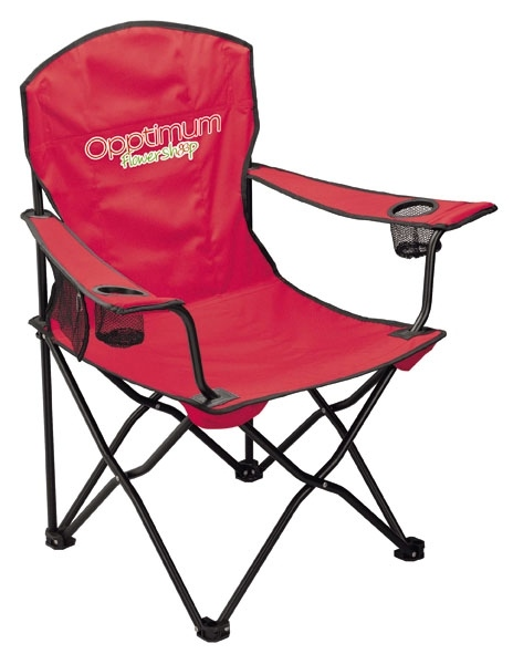 Foldable Chair With Armest And Can Holder