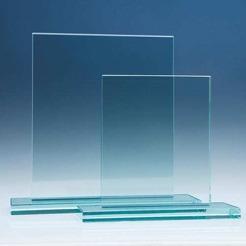 17.5cm x 20cm Rectangle, 12 mm Jade Glass