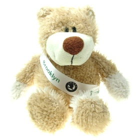 26 cm Wally Jointed Bear with Sash