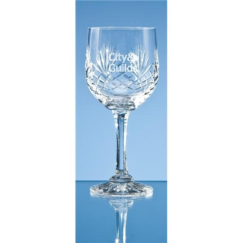 Durham Lead Crystal Panel Goblet