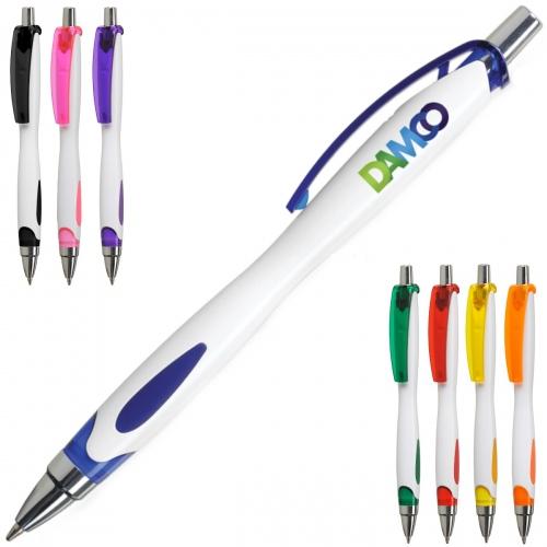 Viki White Ballpoint Pen