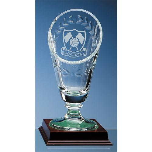 25cm Crystal Laurel Vase
