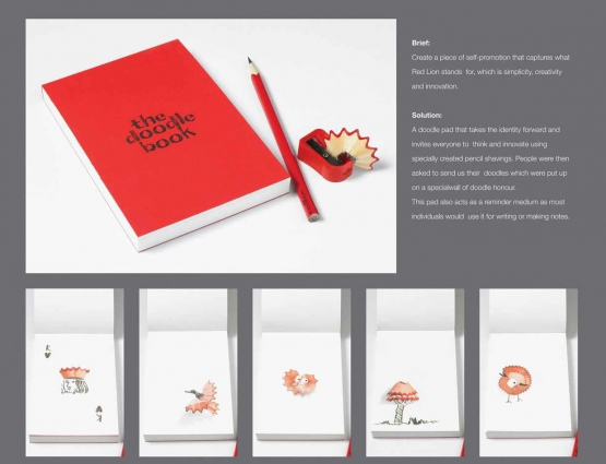 Branded Doodle Pad Inspires Customers of Red Lion Ad Agency #CleverPromoGifts