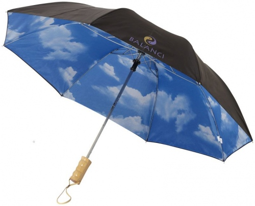 "Blue-Skies 21"" Foldable Automatic Umbrella"