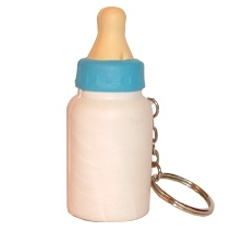 Milk Bottle Stress Toy Keyring