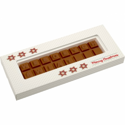 One Line Chocolate Text Bar