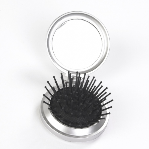 Silver Brush Mirror