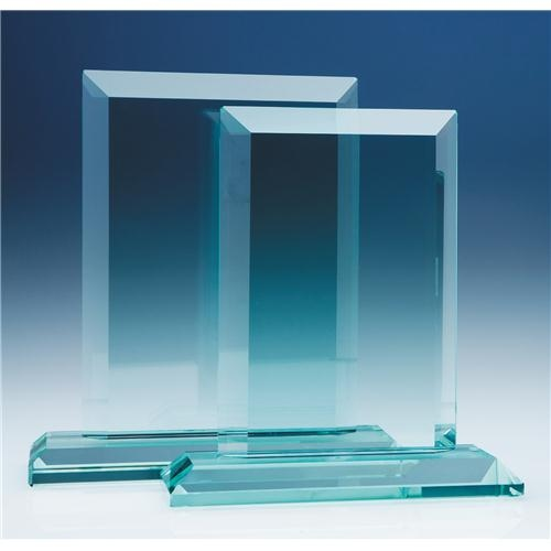 20cm x 19mm Jade Glass Mitred Rectangle Award