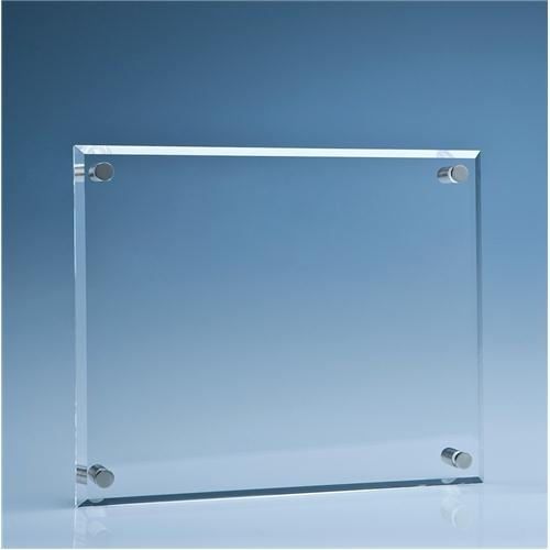 25.5cm x 30.5cm Clear Glass Wall Display Plaque
