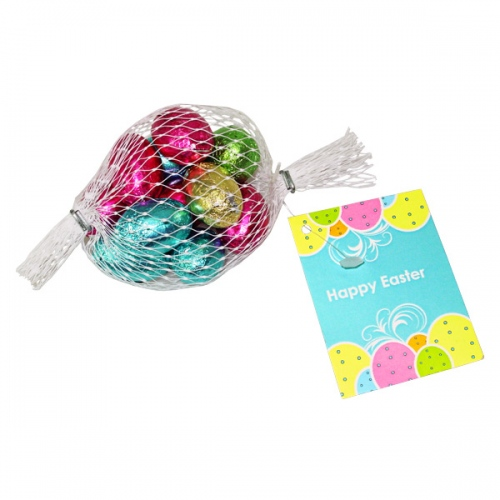 Easter Eggs in Nets