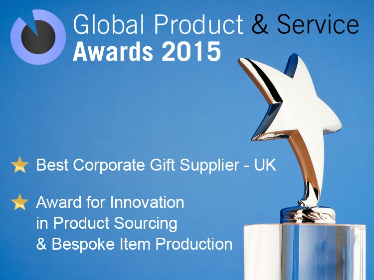 UK Corporate Gifts Win Global Product and Service Awards 2015