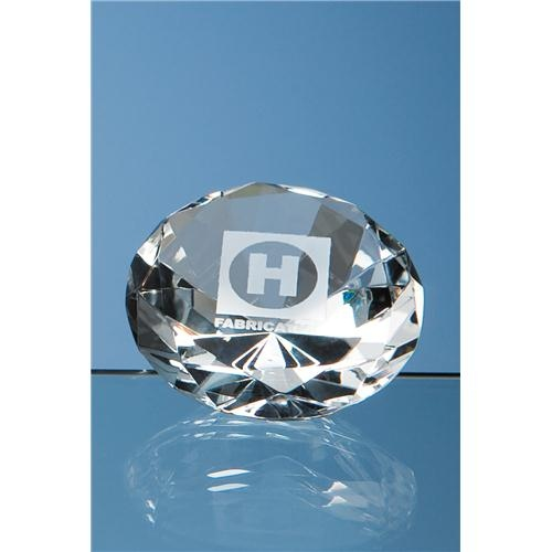 6cm Optical Crystal Diamond Paperweight