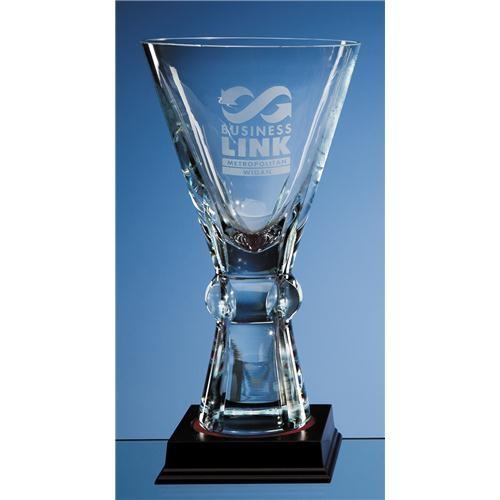 25cm Crystal Trophy Vase