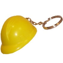 Hard Hat Keyring Stress Toy