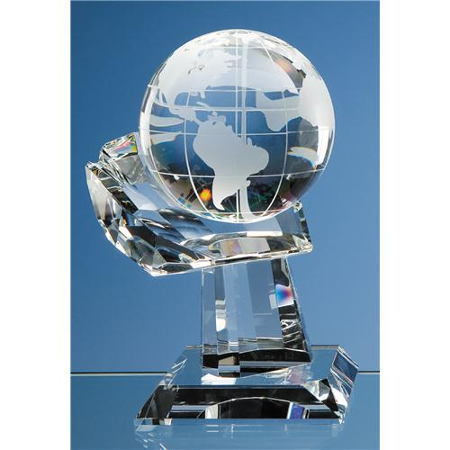 100 mm Optic Globe on Hand