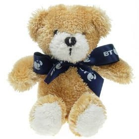 15 cm Jimbo Beanie Bear with Bow
