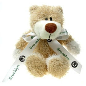 26 cm Wally Jointed Bear with Bow