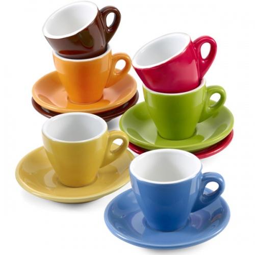 Set of Five Coloured Porcelain