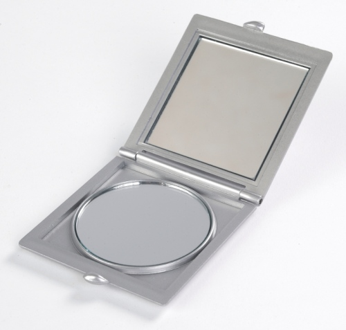 Silver Pocket Mirror - Double Mirror