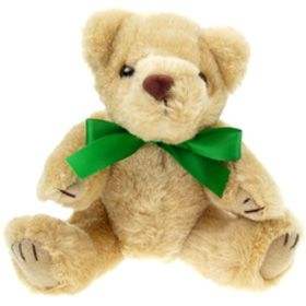 20 cm Honey Jointed Bear with Bow