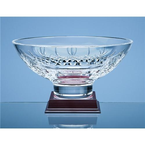 25cm Mayfair Lead Crystal Panel Footed Bowl